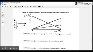 position vs time worksheet last page youtube