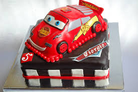 customised cakes by jen 3d lightning mcqueen cake