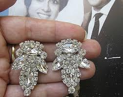 clip on bridal earrings bridal clip earrings etsy