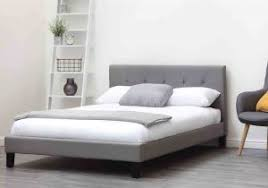 contemporary grey rey upholstered bed frame 429 99 groovy 11 of