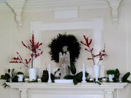 excellent christmas mantel ideas with flower decoration compelling