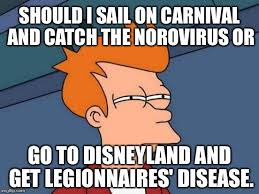 Sail Meme - should i sail on carnival and catch the norovirus or go to