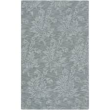 Teal And Gray Area Rug by Surya Candice Olson Blue Gray 8 Ft X 11 Ft Area Rug Lmn3005 811