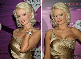holly madison u0027s blonde hair in a retro look with curl and a body wave