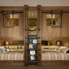 Barnwood Bunk Beds Rustic Country Bunk Room Features Built In Barnwood Bunk Beds