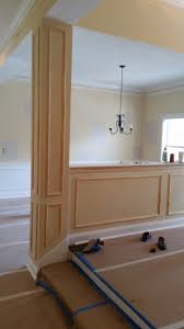 wainscoting faux picture frames and chair rail installation and