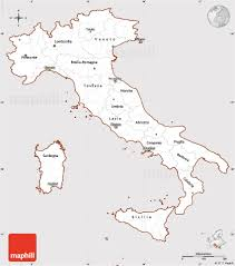 Italy Road Map by Classic Style Simple Map Of Italy Cropped Outside