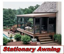 Deck Awnings Retractable Stationary Awning Installation Chester County Milanese Remodeling