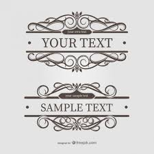 ornamental text frames vector free