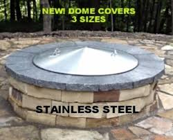 Custom Fire Pit Covers by Stainless Steel Metal Fire Pit Ring Spark Screen Cover 36