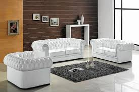 White Leather Tufted Sofa Captivating Lighting Trends With Additional Glamorous Cheap