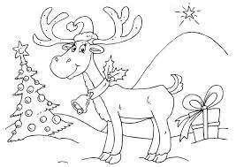 5 christmas reindeer coloring pages merry christmas