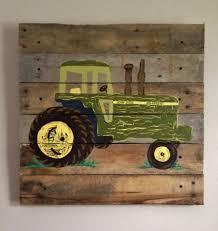 TractorGreenXPaintedPallet ArtBoys Rustic Wall Art - John deere kids room