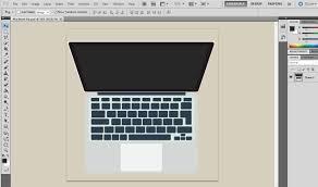 photoshop psd design tutorial apple macbook youtube