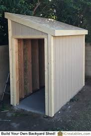 Plans To Build A Wooden Storage Shed by Lean To Shed Plans With Roof Sheeting Installed The Fascia Trim