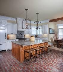 White Kitchen Brick Tiles - cabinet brick floor in kitchen best brick tile floor ideas