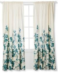Teal And White Curtains Bargains On Threshold Climbing Vine Curtain Panel