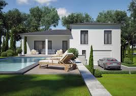 modele de terrasse couverte modèle villa contemporaine 100m2 demi étage agate azur logement