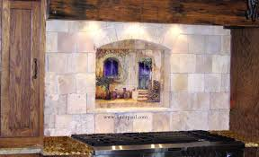 Kitchen Backsplash Mural Stone by Tile Wall Murals And Backsplashes Of France And French Villages
