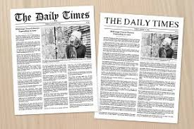 old style word newspaper template flyer templates creative market
