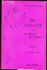 couverture de livre vierge deharme lise oh violette ou la politesse des végétaux le