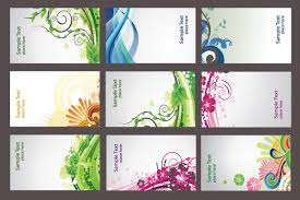 Abstract Business Cards Colorful Abstract Business Cards Vector Topvectors Com