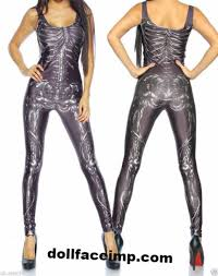 Skeleton Jumpsuit Jumpsuit Skeleton Print Tight Catsuit Black Jumpsuit Tight