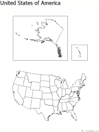 empty map of united states the us50 view the blank state outline maps