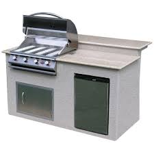 cal flame 6 ft stucco grill island with granite top and 4 burner