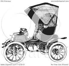 wrecked car clipart clipart retro black and white vintage convertible car 3 royalty