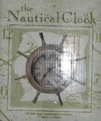 Nautical Desk Clock The Nautical Clock 6 5 U0027 U0027 Desk Clock Features Quartz Movement