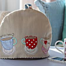 Cosy Teacups Tea Cosy Freehand Machine Embroidery Teacup And
