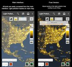 Light Polution Map Light Pollution Map