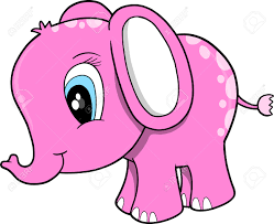 elephant pink cartoon