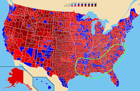 Northern United States Map by United States What Is This Line Of Counties Voting For The