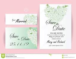 You Are Invited Card Wedding Invitation Card Flowers Jasmine Stock Vector Image 89647888