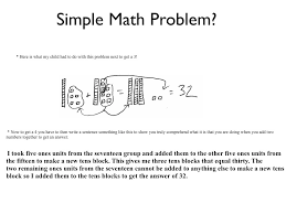 common core performance level descriptors in a simple math problem