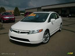 2007 Civic Si Interior 2007 Taffeta White Honda Civic Si Sedan 17692211 Gtcarlot Com