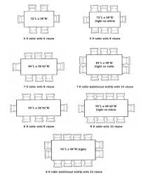 Dining Room Table Sizes Dining Room Table Measurements Room Dining - Dining table size to fit 8