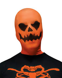 scary evil pumpkin jack o lantern stocking fabric mask costume