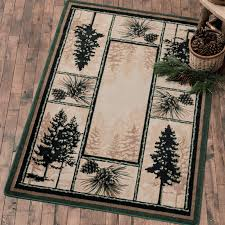 Pine Cone Area Rugs Stoic Pine Trees Rug Collection