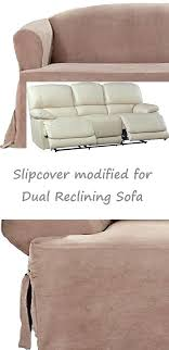 Dual Reclining Sofa Slipcover Recliner Sofa Slipcovers Luxury Beige Stretch Sofa Slipcover