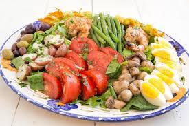 cuisine nicoise nicoise salad with grilled shrimp