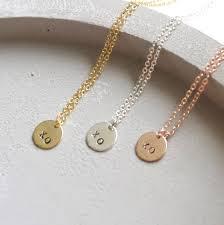 customized necklace xo mini disc necklace ekalake