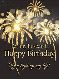 enchanting fireworks happy birthday card for husband still see