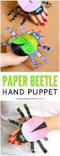 beetle paper hand puppet template easy peasy and fun