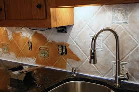 Backsplash For Kitchen With Granite How To Paint A Tile Backsplash My Budget Solution Designer Trapped