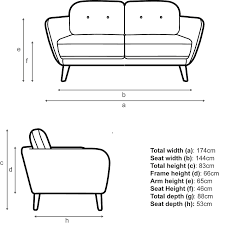 buy house by john lewis arlo medium 2 seater sofa light leg