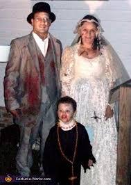 Zombie Bride Groom Halloween Costumes Zombie Wedding Family Dressed Zombie Bride Groom U0026 Priest