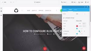 how to configure blog post intro picture and title with joomla